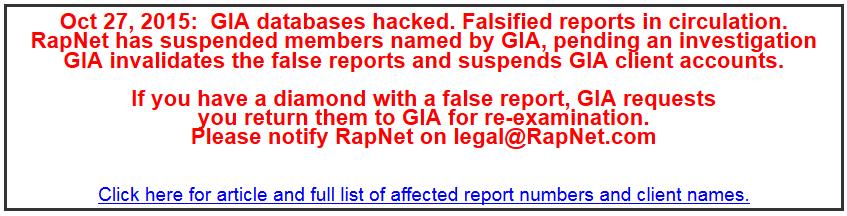 GIA Hacked